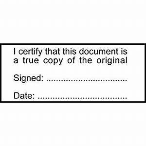 certified true copy of the original for solicitors With notary true copy of original document