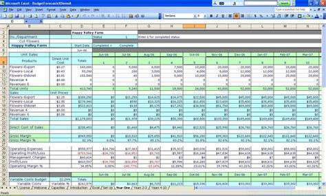 excel spreadsheet for small business income and expenses template qualads