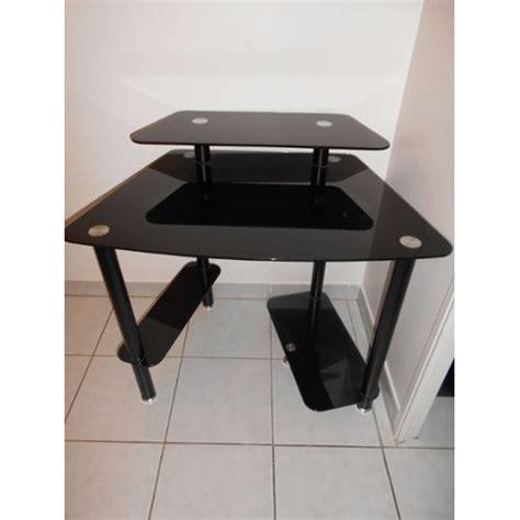 bureau en verre trempé noir bureau turbo en verre trempe noir achat et vente