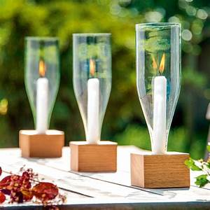 Basteln Mit Glasflaschen : windlicht vino weinflaschen dekorieren diy ~ Watch28wear.com Haus und Dekorationen