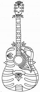 Yucca Flats NM Wenchkin39s Coloring Pages Skele Guitar