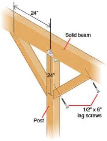 how to erect patio roof posts hometips