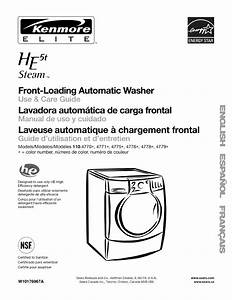 Kenmore Washer 110 477 User Guide