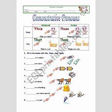 Demonstrative Pronouns  Esl Worksheet By Sivsc