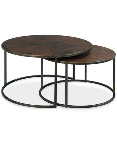 copper lazy copper 2 nesting coffee table set furniture