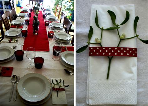 diy christmas table decorations in red my italian wedding