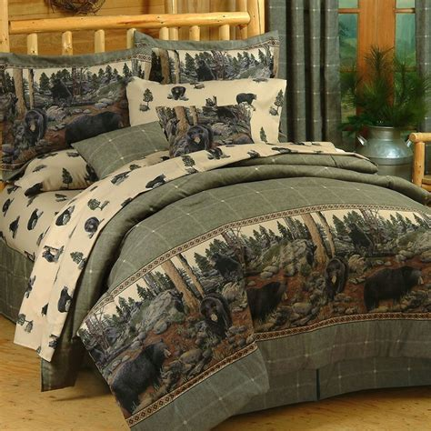 the bears rustic comforter bedding