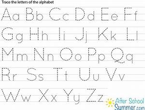Printable traceable alphabet chart for upper and lower for Traceable letters for signs