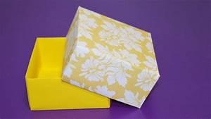 Comment Faire Une Boite En Origami : diy boite en papier facile comment faire une boite origami youtube ~ Dallasstarsshop.com Idées de Décoration