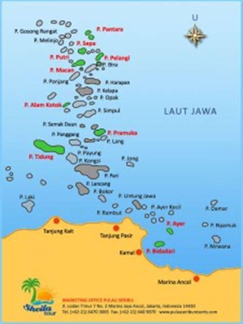 letak lokasi pulau tidung  kepulauan seribu