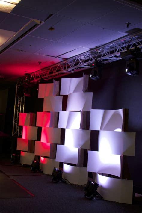 woven plastic poster board church stage design ideas