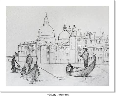 art print  painting  venice italy painted