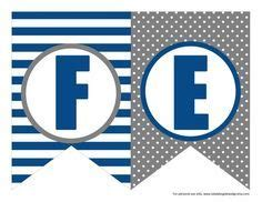 blue  black printable letters  banners  images