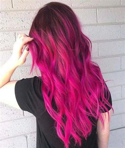 And Coloured Hairstyles by Wave Style Pink Hair Color For Events Nuevas