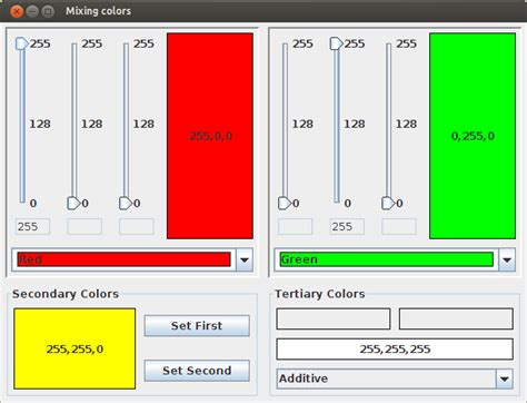 paint color mixing software graphics calculation of a mixed color in rgb stack overflow