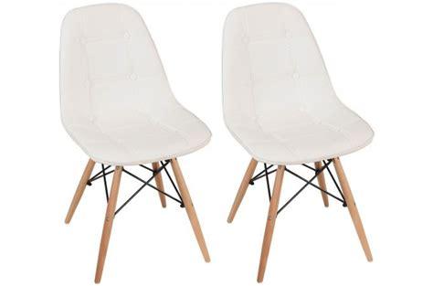 chaises capitonnées lot de 2 chaises loana capitonnées design pieds bois