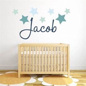 star name fabric wall stickers by littleprints With stickers for walls