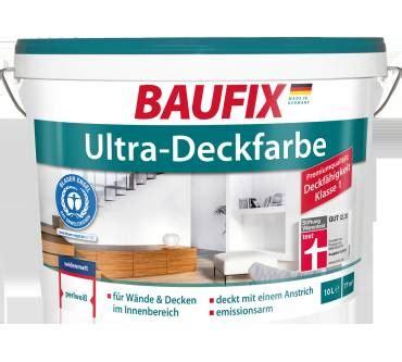 Baufix Wandfarbe Test by Baufix Ultra Deckfarbe Im Test Testberichte De Note