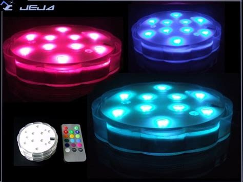 china multi color 10 led light base china submersible
