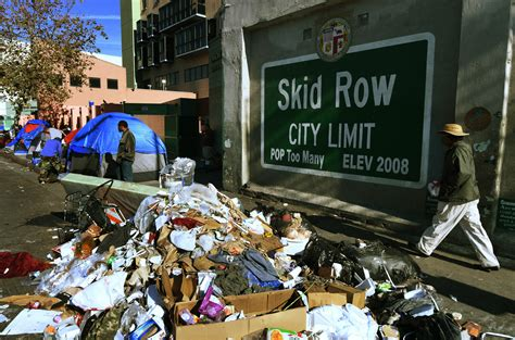 la   pay homeless   hour  clean  skid row
