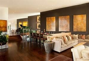 Wohnzimmer Ideen Wandgestaltung : wandgestaltung in braun 50 wohnzimmer wohnideen ~ Sanjose-hotels-ca.com Haus und Dekorationen