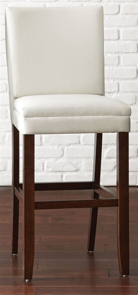 bennett white vinyl bar chair  steve silver btbcwn