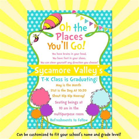 the places you ll go 5x7 diy printable graduation 322 | il fullxfull.761234922 l4wu