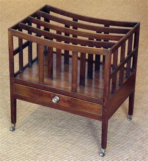 antique mahogany canterbury magazine rack antique