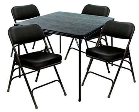 heavy duty 5 xl card table and ultra padded chair
