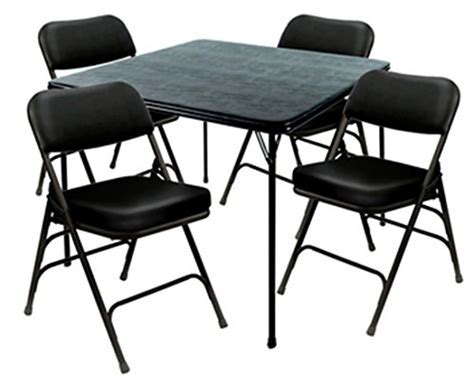 Heavy Duty 5 Piece XL Card Table and Ultra Padded Chair