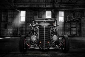 hot-rod classic car classic retro front light hangar HD
