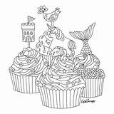 Coloring Pages Colouring Mindfulness Cupcakes Adult Food Sheets Cakes Books Cupcake Mandala Therapy Printable Imprimir Apps Apple Sketch Inspiration Adults sketch template