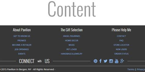 pure css responsive footer design