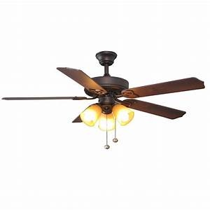 Hampton bay brookhurst quot oil rubbed bronze ceiling fan