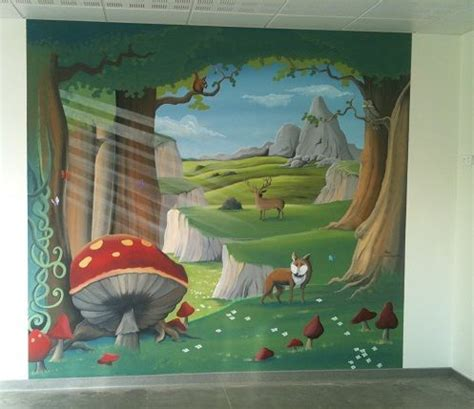 chambre foret fresque murale forêt enchantée chambre obé