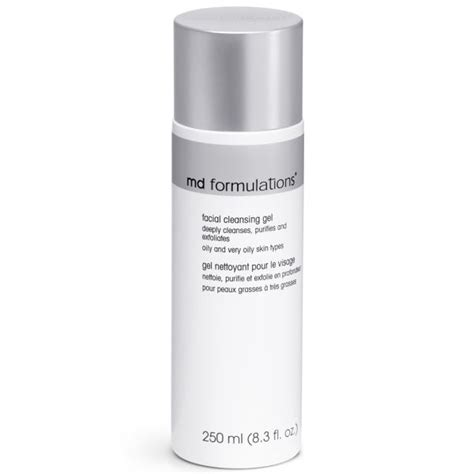 md formulations facial cleanser gel oily oily skin