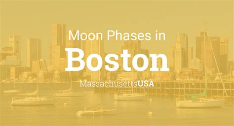 moon phases  lunar calendar  boston
