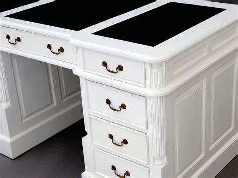 bureau anglais bureau anglais 140 cm acajou blanc oxford meuble de