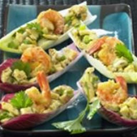 cuisine endives recette barquettes d 39 endives apéritives aux crevettes