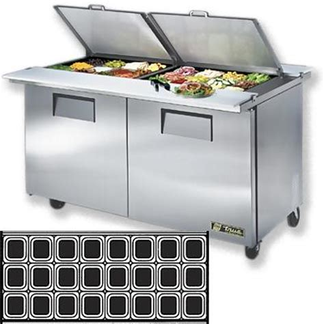 true sandwich prep table true tssu 60 24m b ds st dual sided mega top prep table