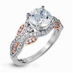 two engagement rings 18k white gold two tone engagement ring fabled collection