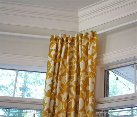 25 best ideas about corner rod on curtain rod