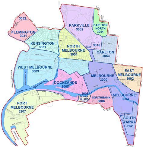 city  melbourne boundary map city  melbourne