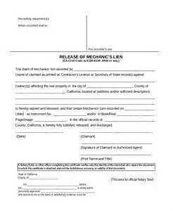 Mechanics Lien Release Form