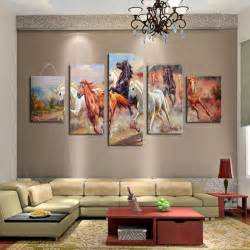 unframed 5 panels canvas print painting modern running