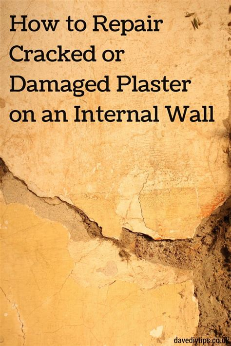 repair cracked  damaged plaster   http