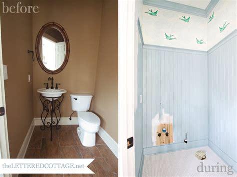 Bathroom Cottage Bathroom Half Tiled Walls Pictures