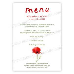 exemple menu mariage modele carte de menu gratuit rapide et sûr