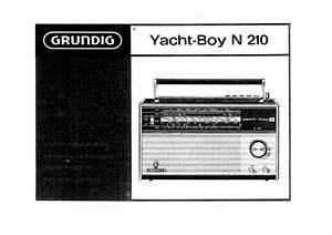 Grundig Yacht-boy N 210 Owner U0026 39 S Manual