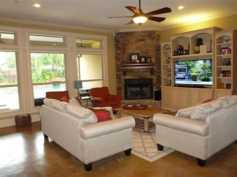 Decorating Ideas For Living Room With Fireplace by Decorating Around Fireplace In Corner Search